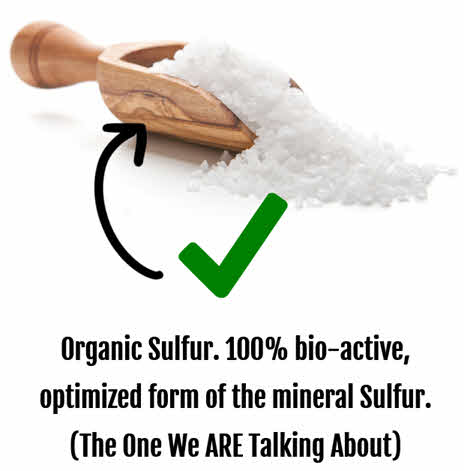 MSM is an organic sulfur used for hair growth and beauty