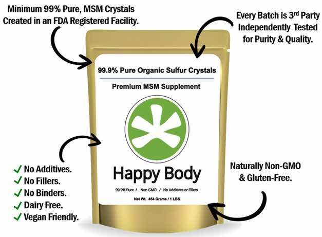 Happy Body Organic Sulfur Is The Best Quality MSM For Hair Growth Needs