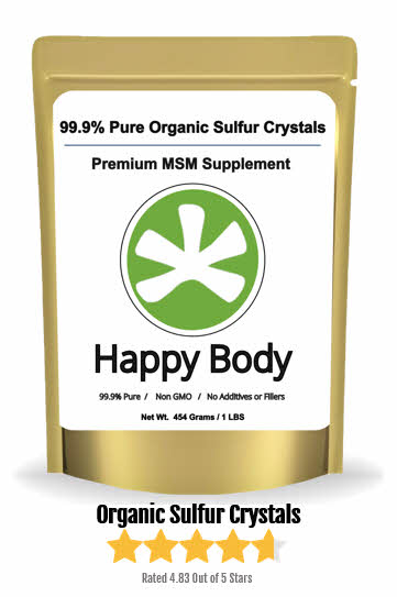 Happy Body Pure MSM Crystals For Hair & Much More
