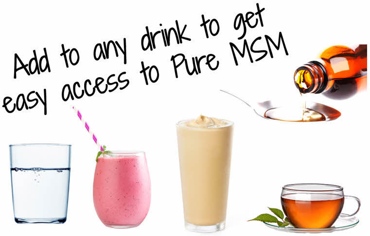 add MSM Drops to your choice of drinks