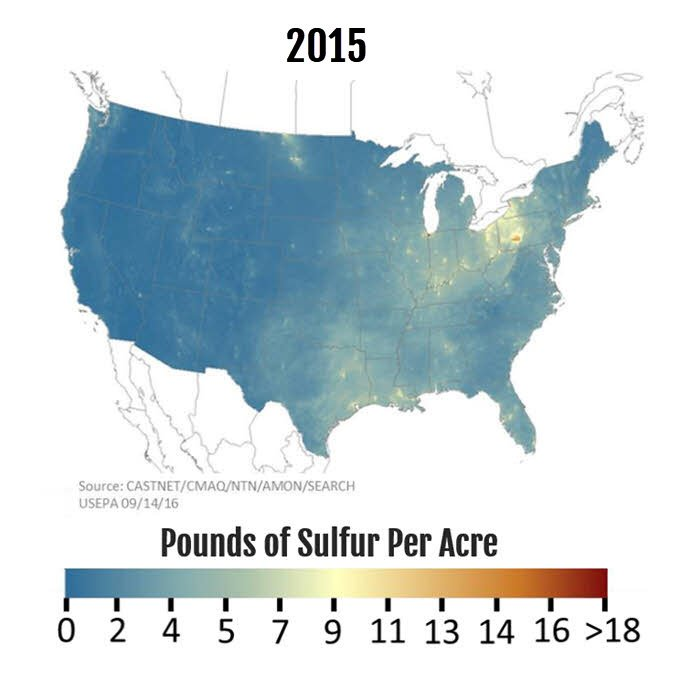 sulfur deposits in soil as 2015