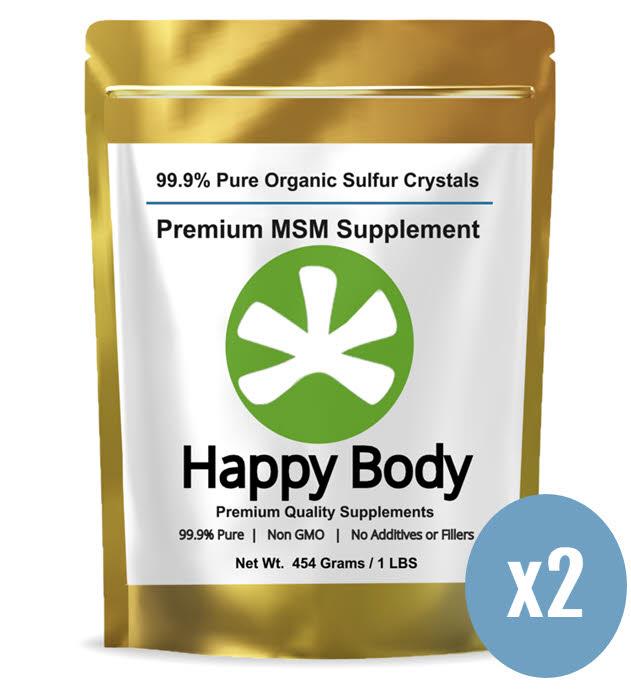 Happy Body Organic Sulfur 2 Pack x 1 lb. Bag