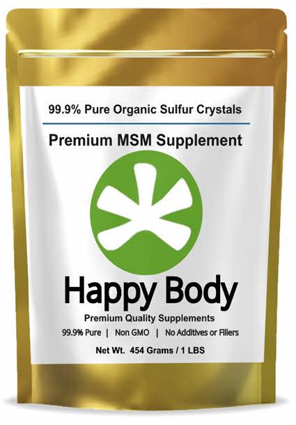 buy happy body organic sulfur/ sulphur, pure MSM