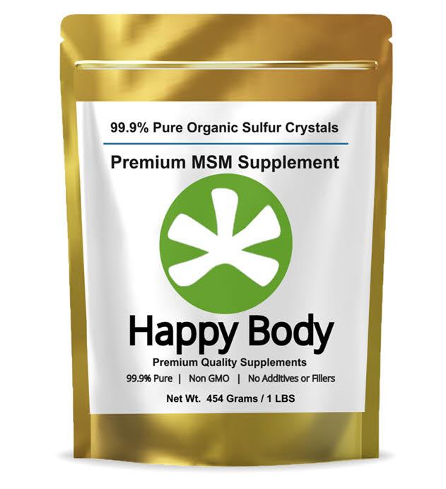 Happy Body Organic Sulfur, Pure MSM