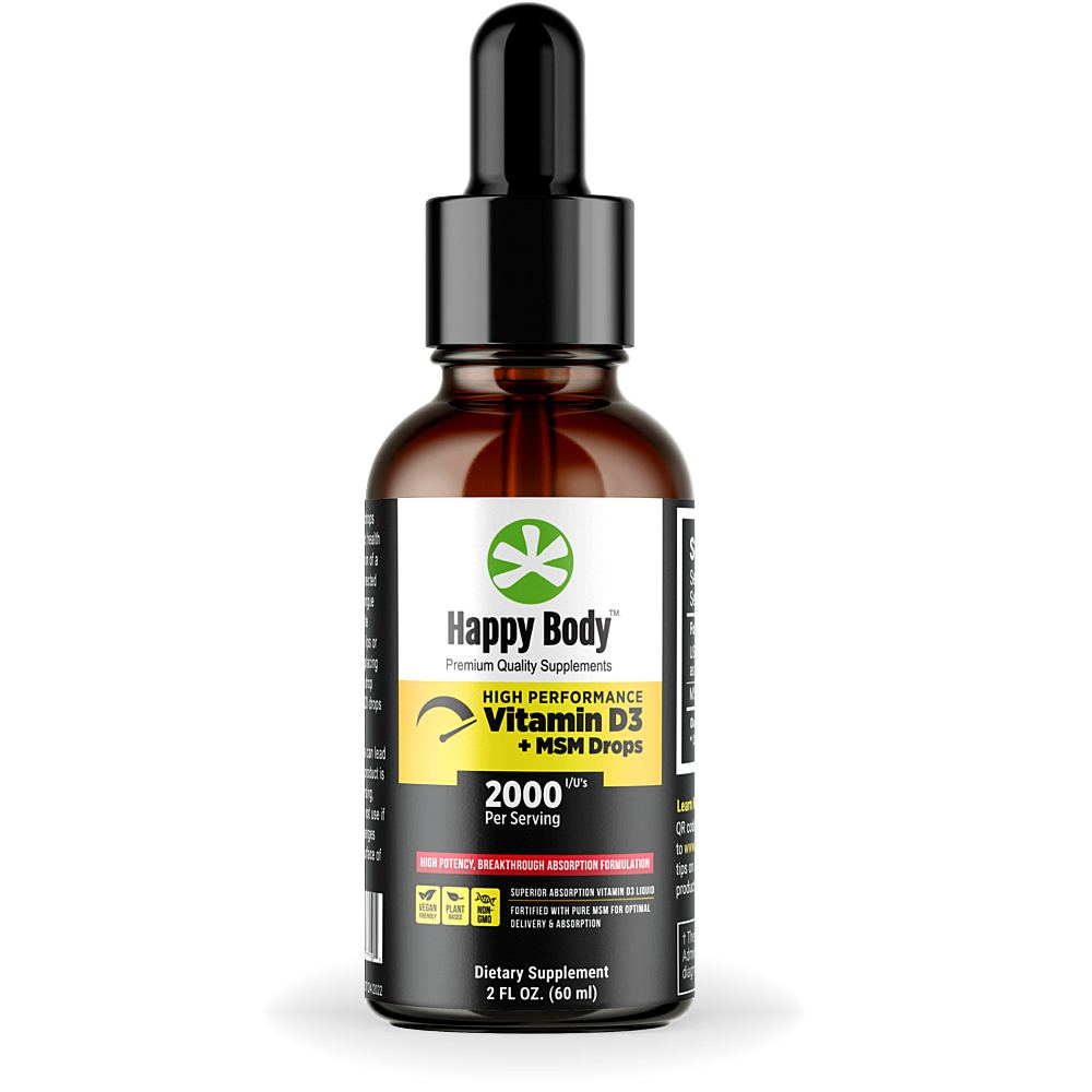 Happy Body Vitamin D3 Liquid Main 1000x1000