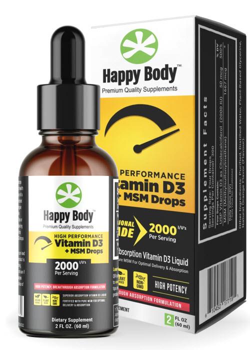 Happy Body Vitamin D3 Liquid Drops