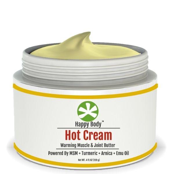 Hot Cream MSM Turmeric Cream By Happy Body