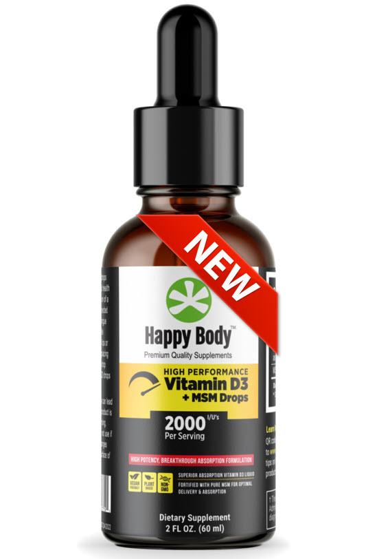 Liquid Vitamin D3 Drops With MSM New