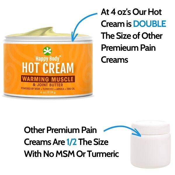 MSM Hot Cream Vs. Others