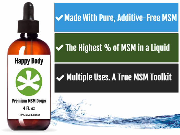 Liquid MSM Drops by Happy Body