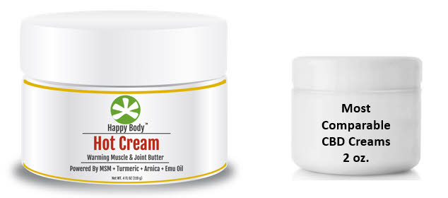 MSM Turmeric Hot Cream Versus Other Creams