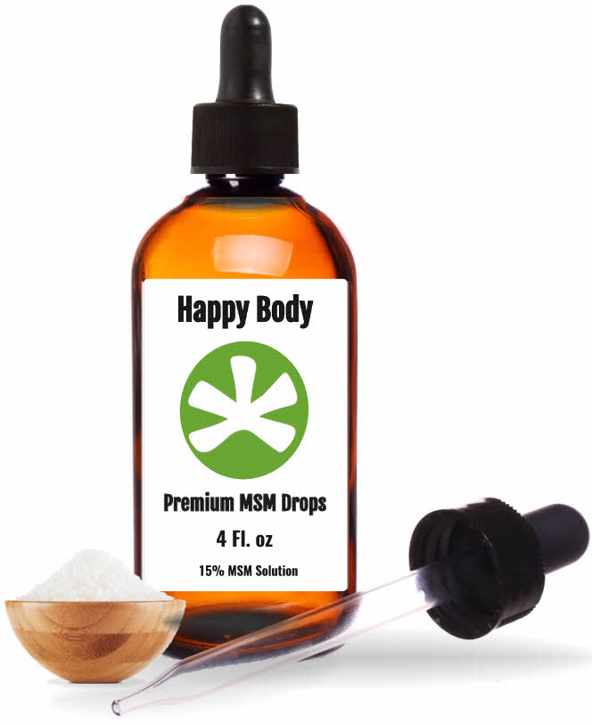 Pure Liquid MSM Drops By Happy Body