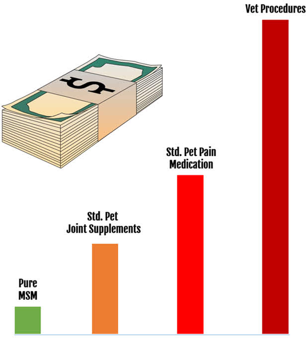 Cost Effectiveness of MSM For Dogs Versus Other Methods