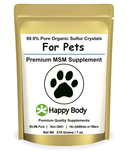 See Reviews for MSM for Dogs, Cats and Horses