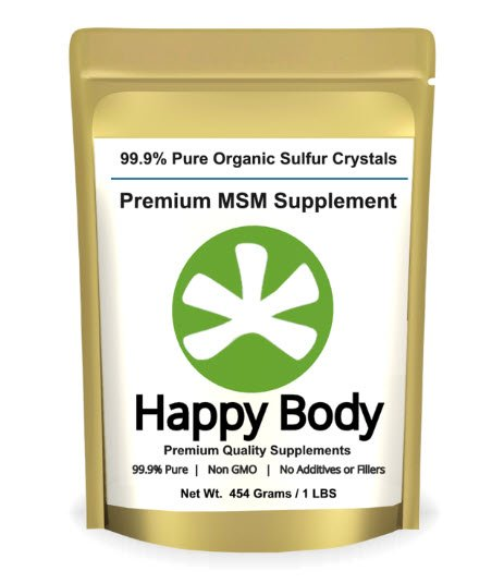 Happy Body MSM Crystals for Hair 1 LB