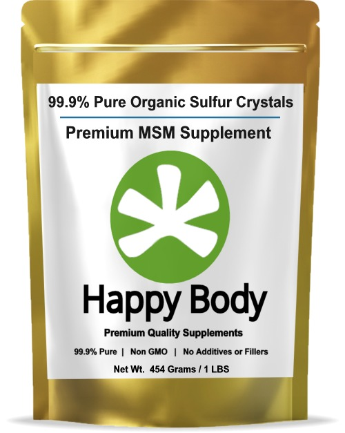 Happy Body Organic Sulfur, Pure MSM