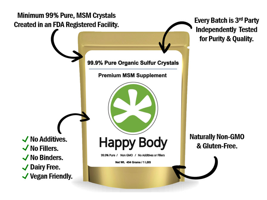 Happy Body Organic Sulfur Features and Benefits