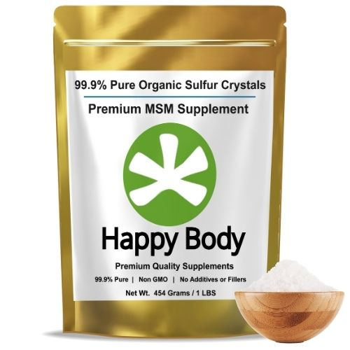Organic Sulfur MSM Crystals From Happy Body
