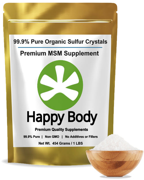 Organic sulfur crystals pure MSM by Happy Body