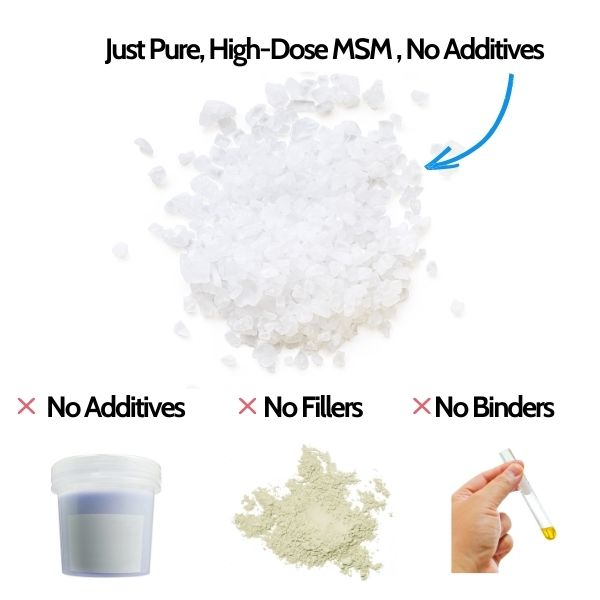 Our MSM Crystals are pure and additive free