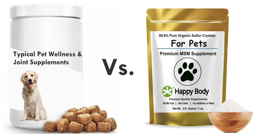 Pet Joint Supplements Versus Pet Organic Sulfur