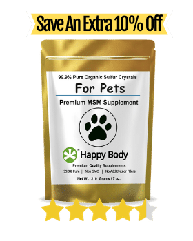 Save 10 Percent on our Pure MSM For Pets