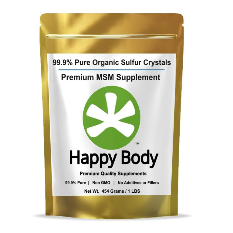 Organic Sulfur - Pure MSM, By Happy Body