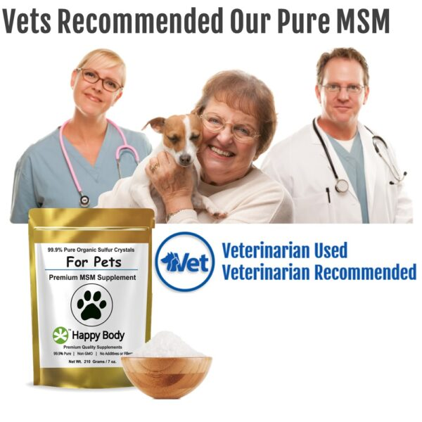 Vet recommended MSM