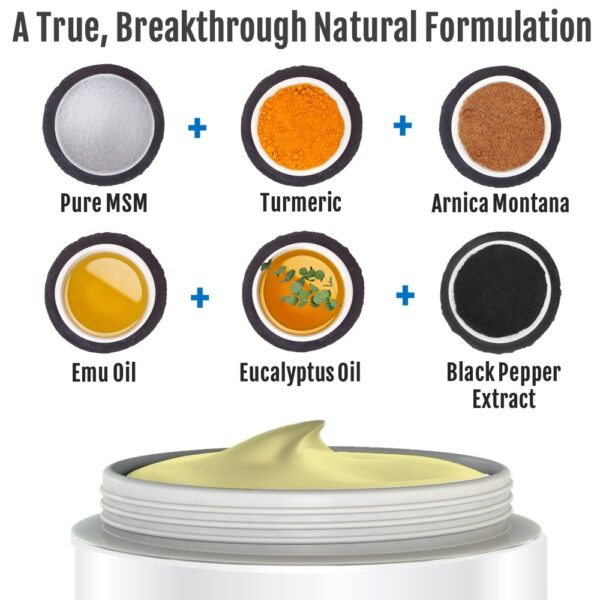Mad with MSM, Turmeric, Eucalyptus, Argan, Emu Oil and Black Pepper