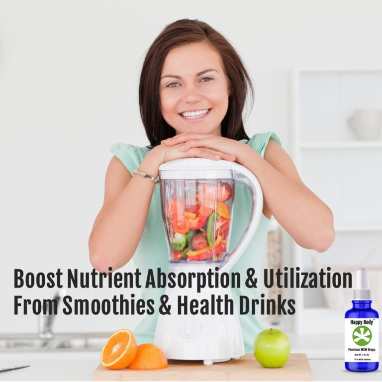 Use MSM Drops To Boost Absorption from Smoothies