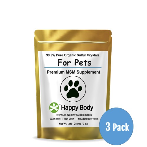 Multi Pack Organic Sulfur MSM For Pets 3 Pack 499x499