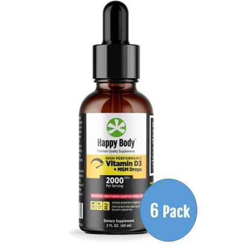 Vitamin D3 Liquid 6 Pack