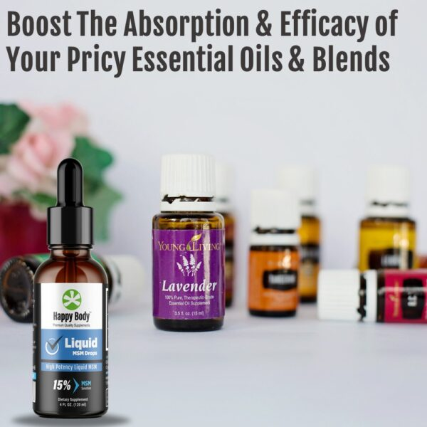 MSM Drops To Help Boost Absorption of Essential Oils