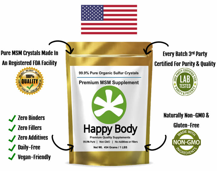 america's most trusted and best selling organic sulfur / sulphur, Pure MSM Crystals