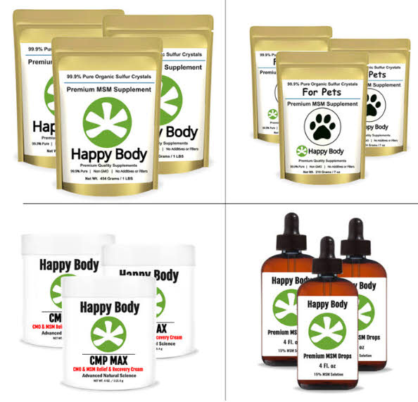 happy body multi pack and wholesale bulk msm products